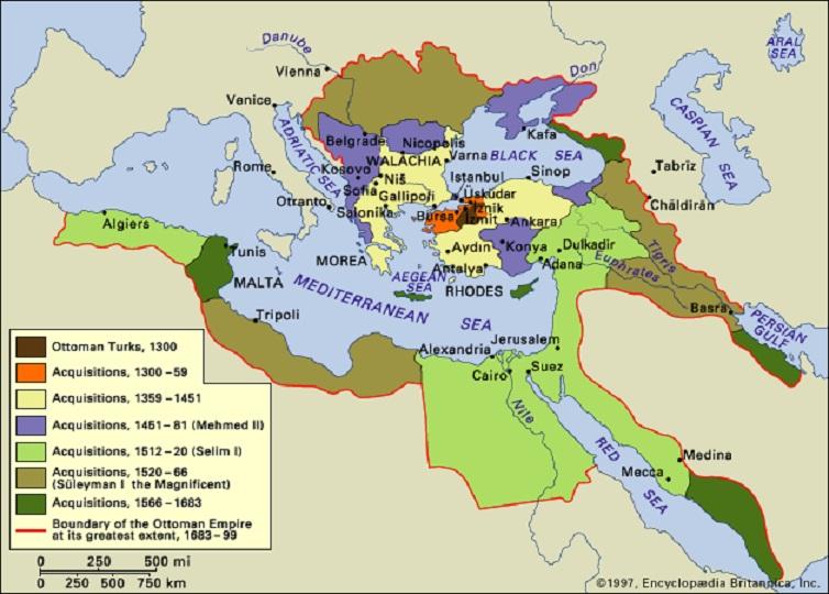 Карта новой турецкой империи