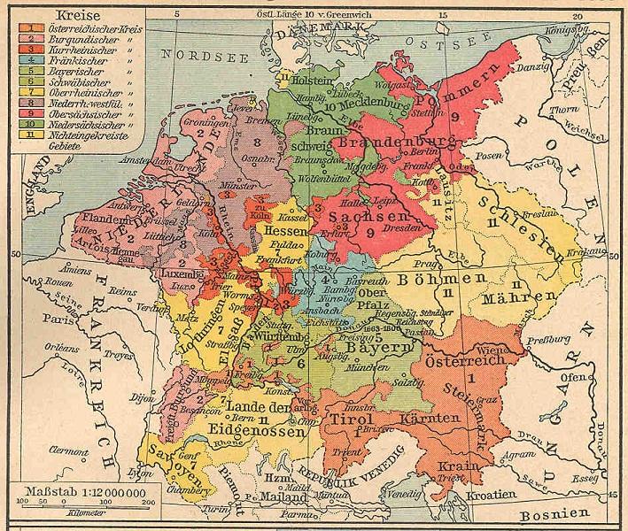 Вот карта имперских округов.