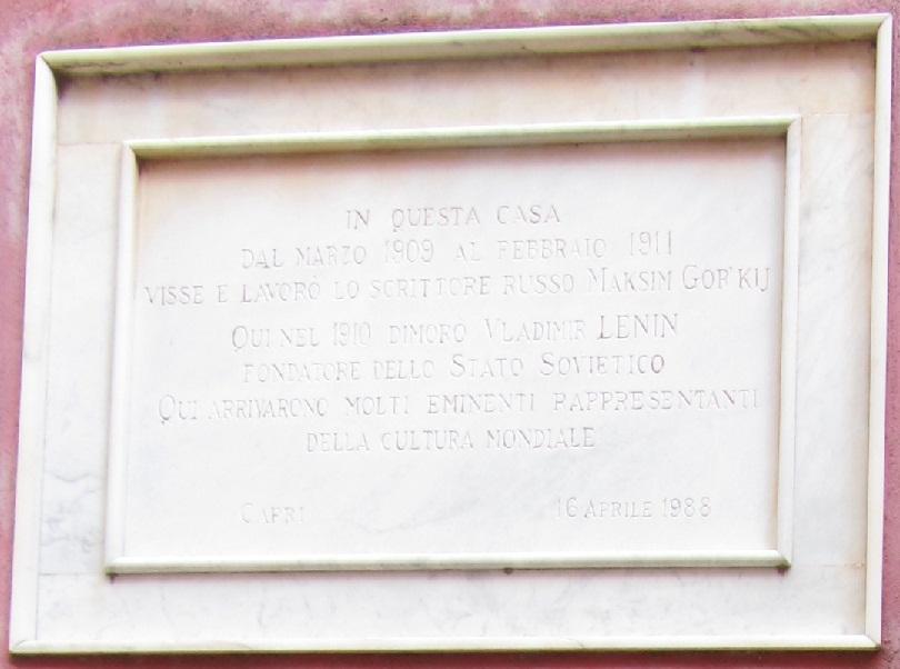 Считается, что у Горького на Капри была «вилла»